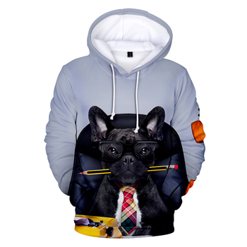 3D Printed French Bulldog Hoodies