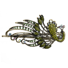 JEYL Hot Lovely Vintage Jewelry Crystal Peacock Hair Clips – for hair clip Beauty Tools