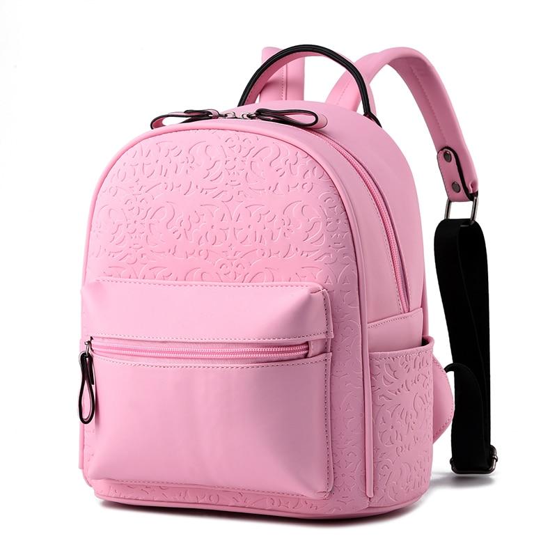 Fashion Women Backpack Cute Mini Backpack Female High Quality Leather Small Backpacks For Teenage Girls