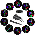 Outdoor 10 Type Moving Pattern Snowflakes Laser Projector Stage Light Garden Landscape Holiday Christmas Party lights