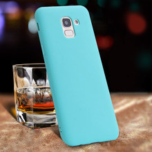 Phone Case for Samsung Galaxy J4 J6 Plus J2 Pro J8 J7 2018 Note 9 8 J5 J3 2017 J7 Duo J4 Core Simple Solid Color TPU Case(China)