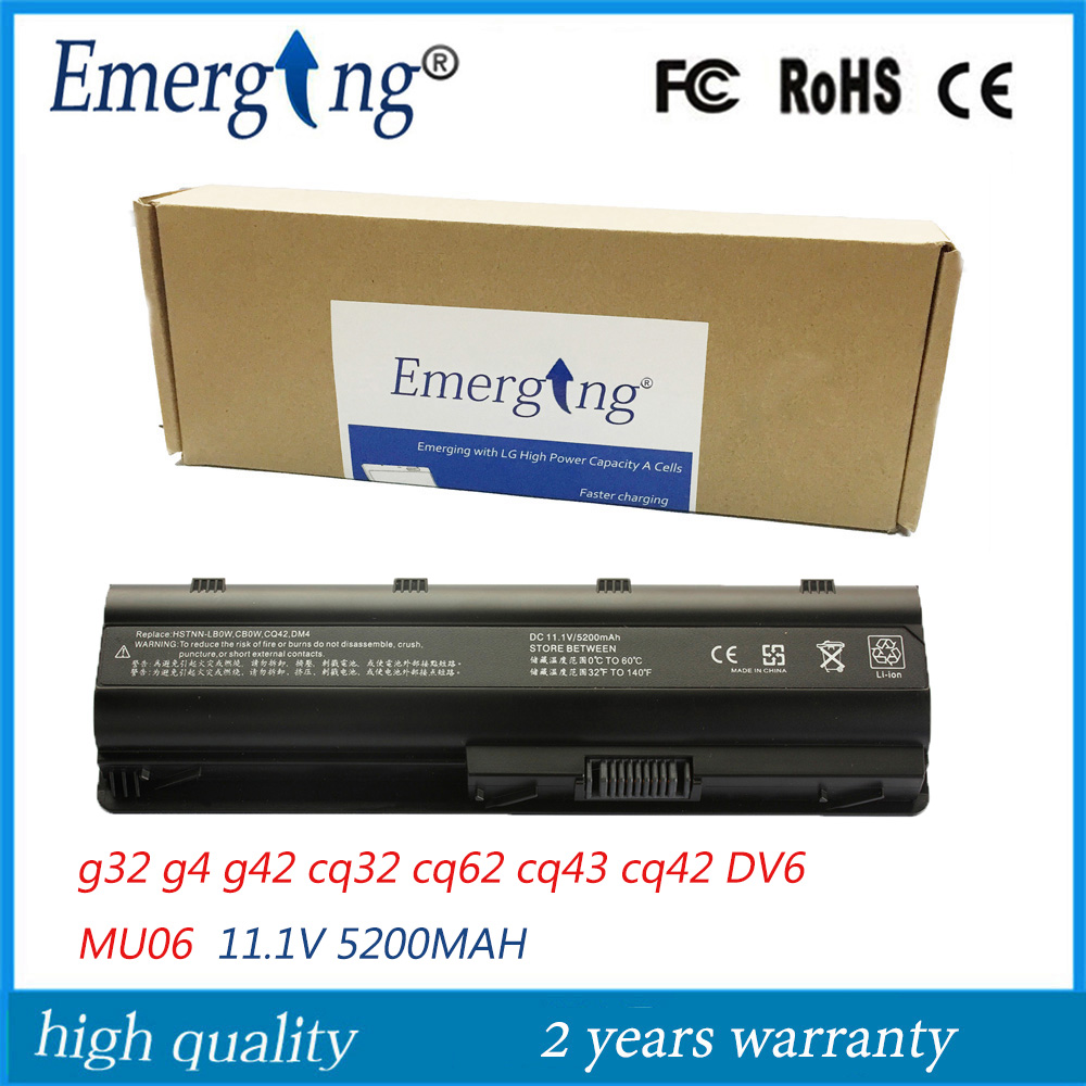 11.1V 5200Mah Japanese Cell New Laptop Battery for HP COMPAQ CQ56 CQ32 CQ42 CQ43 MU06 G32 G4 G42 CQ32 CQ62 DV6