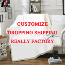 FYMX Customized Throw Blanket Sherpa Fleece Soft Personalized DIY Your Picture Rug Home Decoration For Bed Drop Shipping