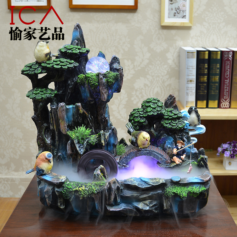 Ica Feng Shui Wheel Lucky Decoration Rockery Water Fountain Fish Tank  Bonsai Indoor Humidifier Decoration On Aliexpress.com | Alibaba Group