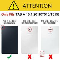 galaxy tab Stand Tablet Case for Samsung Galaxy Tab A 10.1 2019 SM-T510 SM-T515 funda PU Leather Flip Retro Cover Protective Shell (2)