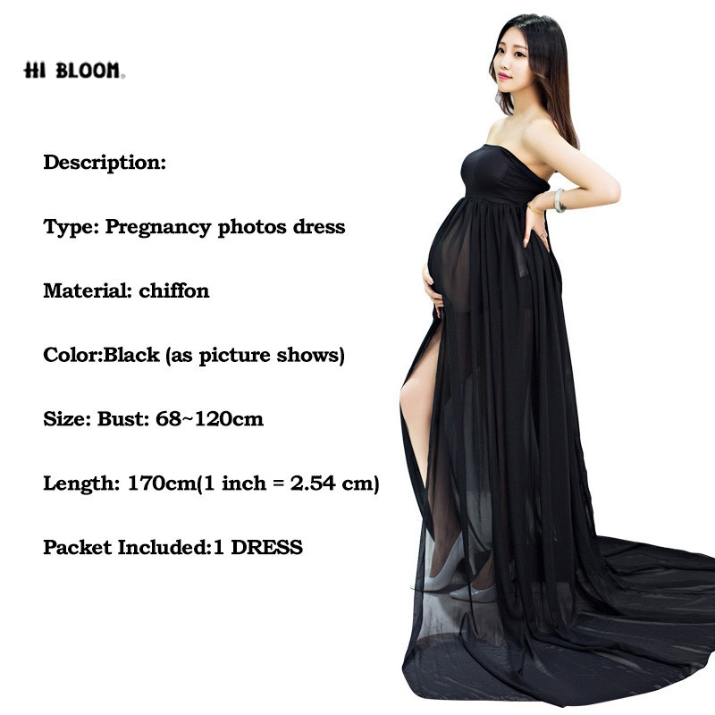 f267b3b804e33 Maternity Dress For Photo Shooting Black White Dress Maternty Photography  Props Sleeveless Stretch Cotton Long Pregnant Dress-in Dresses from Mother  & Kids ...
