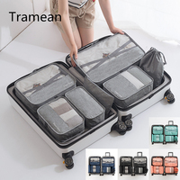 7pc Travel Bag Set Luggage Bag Waterproof Organizer Packing Cubes Breathable Mesh Packing Travel Duffle Bag Carry on Suitcase 4