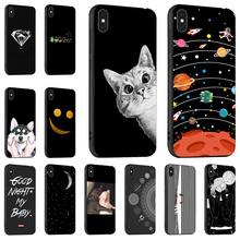 Fashion Black Painted Case For iPhone 7 X Cases Silicon Cover XS Max XR On the for 6S 6 8 Plus Funda