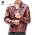 2016 Кожаные Куртки Пальто Pelle Giacca Uomo Jaqueta Де Couro Masculina мужская Повседневная Мода Slim Fit Мотоциклов Куртки М-5XL