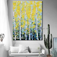 Wall Art Abstract Painting handmade tree Oil Picture On Canvas Home Decoration Living Room Handpainted oil painting