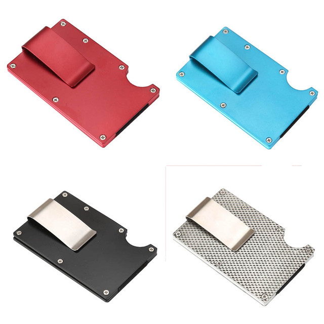 Aelicy Metal Mini Money Clip Brand Fashion Black White Credit Card ID Holder Business Anti-chief Wallet money clip wallet 2019 A 2