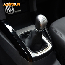 AOSRRUN Stainless steel panel stickers manual gears decoration stickers cover for Ford ecosport 2013
