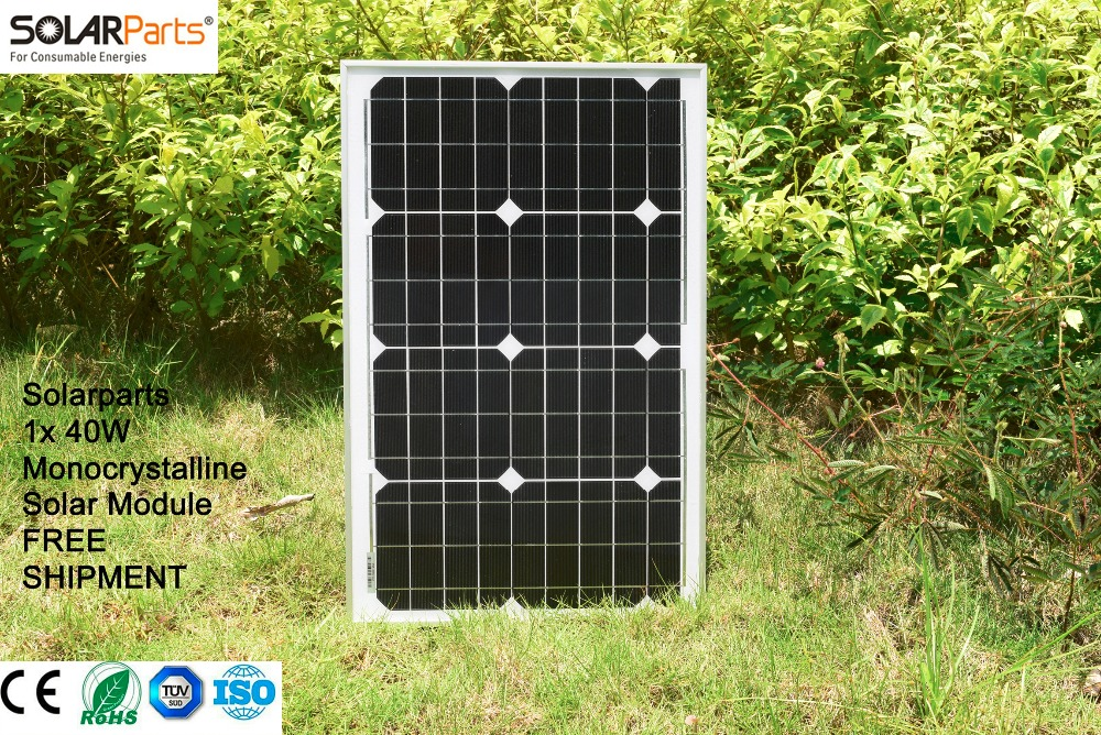 BOGUANG 40W Monocrystalline Solar Module by Mono solar cell factory cheap selling 12V solar panel for RV Marine Boat use 20v 100w flexible solar panel module 36pcs mono solar cell for rv marine boat 12v battery solar charger 1200 540 3