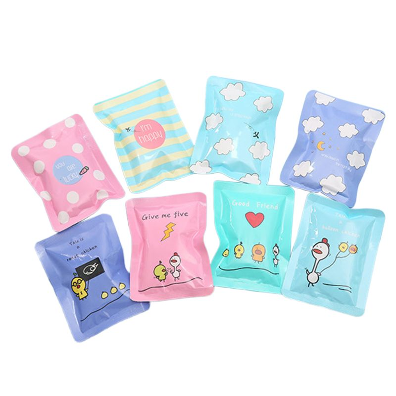 1Pc Summer Reusable Mini PE Ice Pack Bag Travel Portable Cartoon Cooler Compress