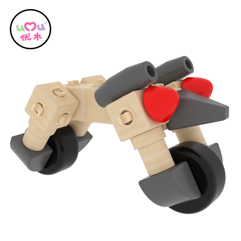 umu buckle car wooden toys for children kids educational toy puzzles brain teaser puzzle