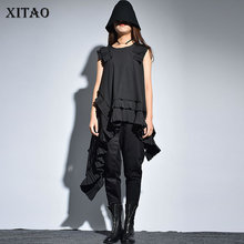 Sexy Black XITAO Sleeveless