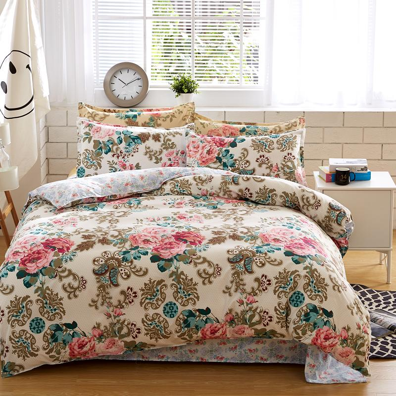 Bedding Sets Cotton Set Reactive Printing Hot Comforter Bed Queen Full Size 4 Pcs-in