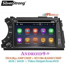 SilverStrong IPS Android9.0 2DIN รถ DVD สำหรับ Ssangyong Actyon Kyron DVD Video เอาต์พุต headrest รถ gps 2 din สำหรับ korando