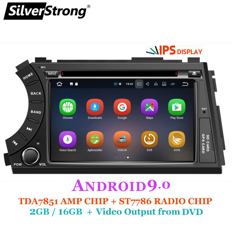 SilverStrong IPS Android9.0 2DIN Car DVD for Ssangyong Actyon Kyron DVD Video output to headrest car gps 2 din for korando