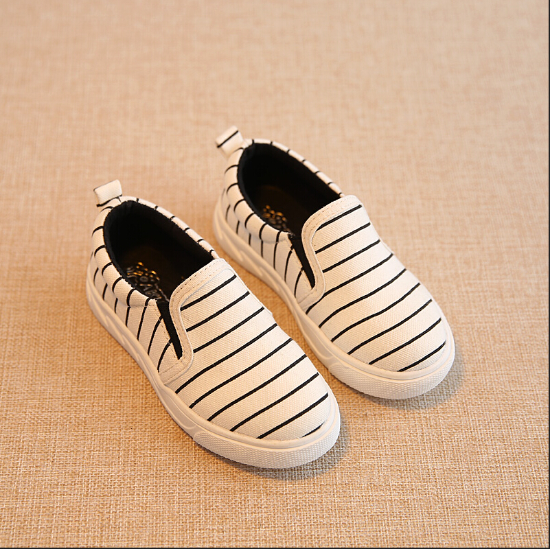 Canvas kids shoes 2016 New Spring stripe Children shoes for boys flat children sport shoes schoenen led kinderen size 21-36