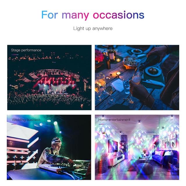Baseus LED RGB Atmosphere Light Auto Interior Inner Car USB Charge Ambient Light DJ Music Sound Sensor Party Karaoke Lights 4