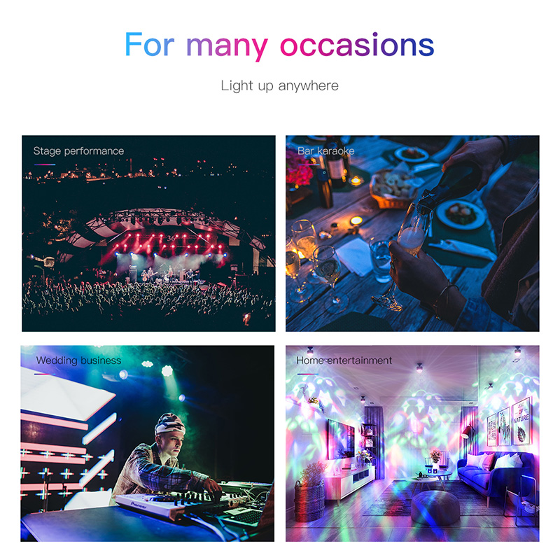 Baseus LED RGB Atmosphere Light Auto Interior Inner Car USB Charge Ambient Light DJ Music Sound Sensor Party Karaoke Lights