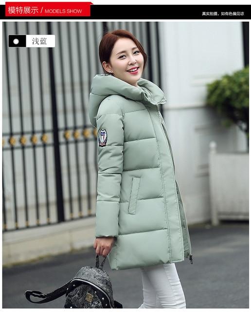 Nueva chaquetas invierno mujeres azul negro abrigos mujeres Marca qw7rqS