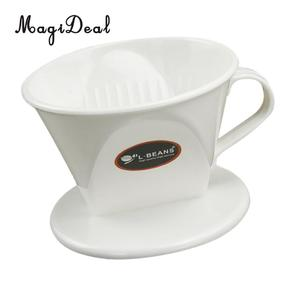 MagiDeal Coffee Filter Clever Coffee Dripper Cone Reusable Brewer Portable White,Clear, Yellow,Green. Brown(China)