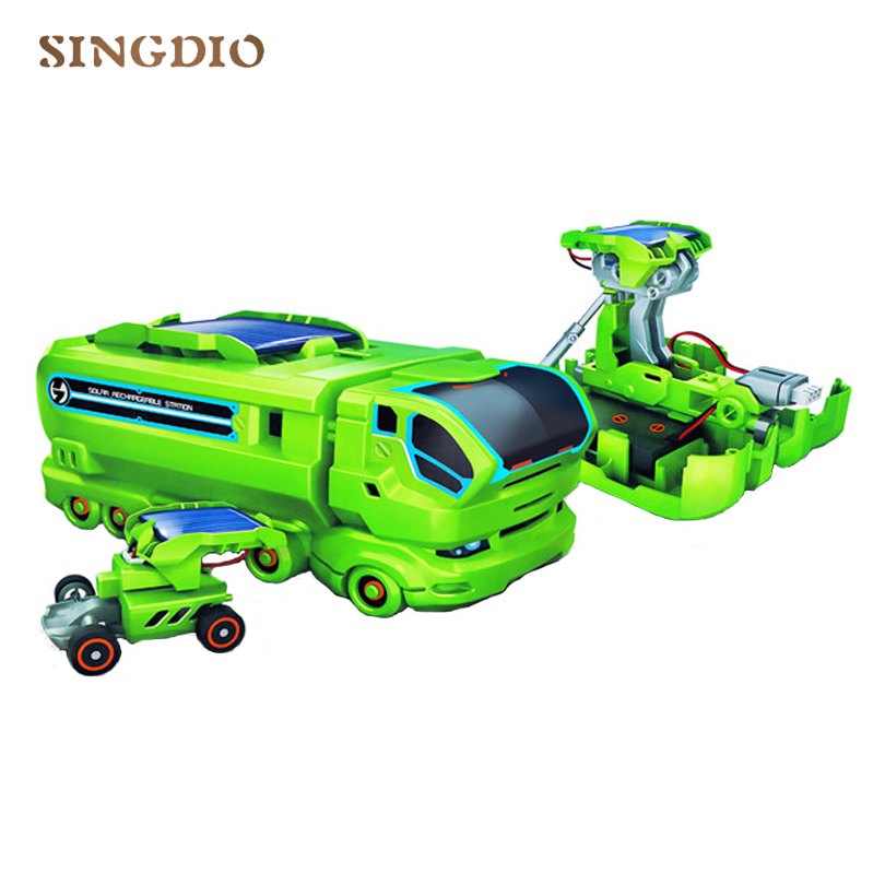 7 in 1 Solar energy Changing equipment Self-assembly type toy Beneficial wisdom education Children Science education car toy administrative factors influencing funds use in primary education