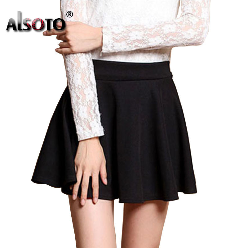 New 2019 Summer  Skirt for Girl Korean cute Short Skater Fashion female mini Skirt Women Clothing saia Bottoms jupe faldas