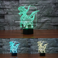 Pterosaur Colorful 3D Lights Night Light Creative 3D Lamp Touch Atmosphere Lights for Kids Toys Luminaria Christomas Gift