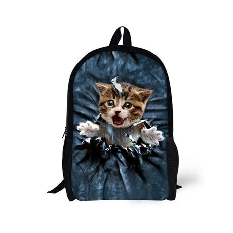 Kawaii Cat School Bag for Teenager Boys and Girls,Design Style Children Backpacks for Student,Daily Mochila Travel Shoulder Bags