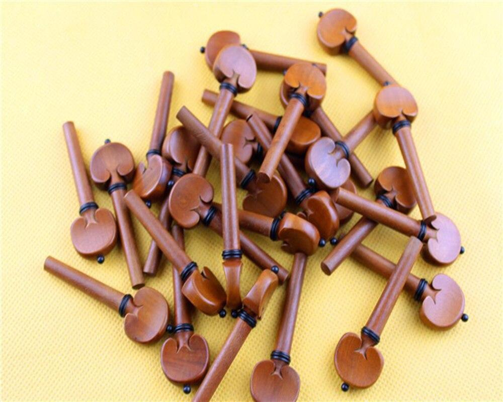 20 Pcs High Quality Violin Pegs Jujube Wood Violin Tuning Pegs 4/4 Size