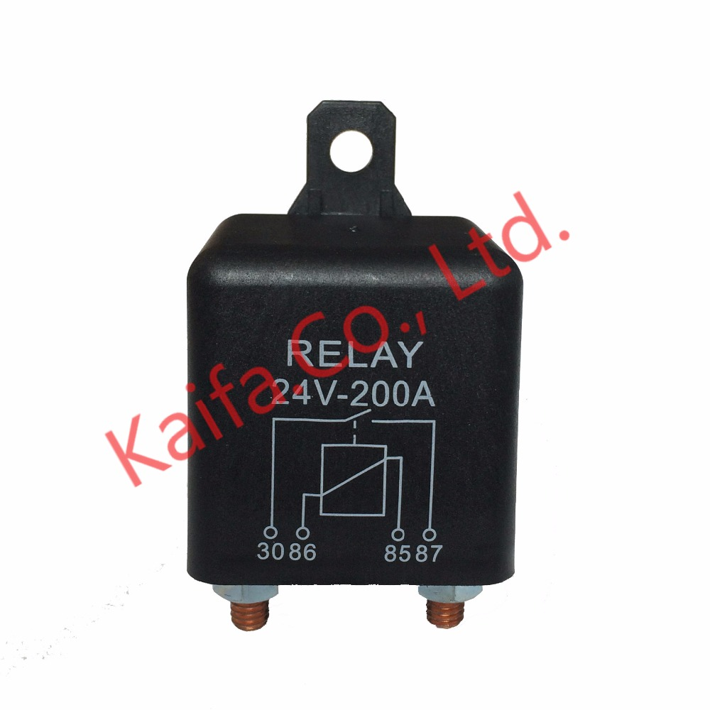 цена на New Car Truck Motor Automotive high current relay 12V/24V 200A 2.4W Continuous type Automotive relay car relays