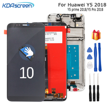 For Huawei Y5 2018 Y5 Pro 2018 LCD Display Touch Screen Digitizer For Huawei Y5 Prime 2018 LCD With Frame DUA L02 L22 LX2 Screen