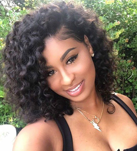 EAYON HAIR Glueless Lace Front Human Hair Bob Wigs Deep Curly For Black Women With Baby Hair 130% Density Pre Plucked Brazilian