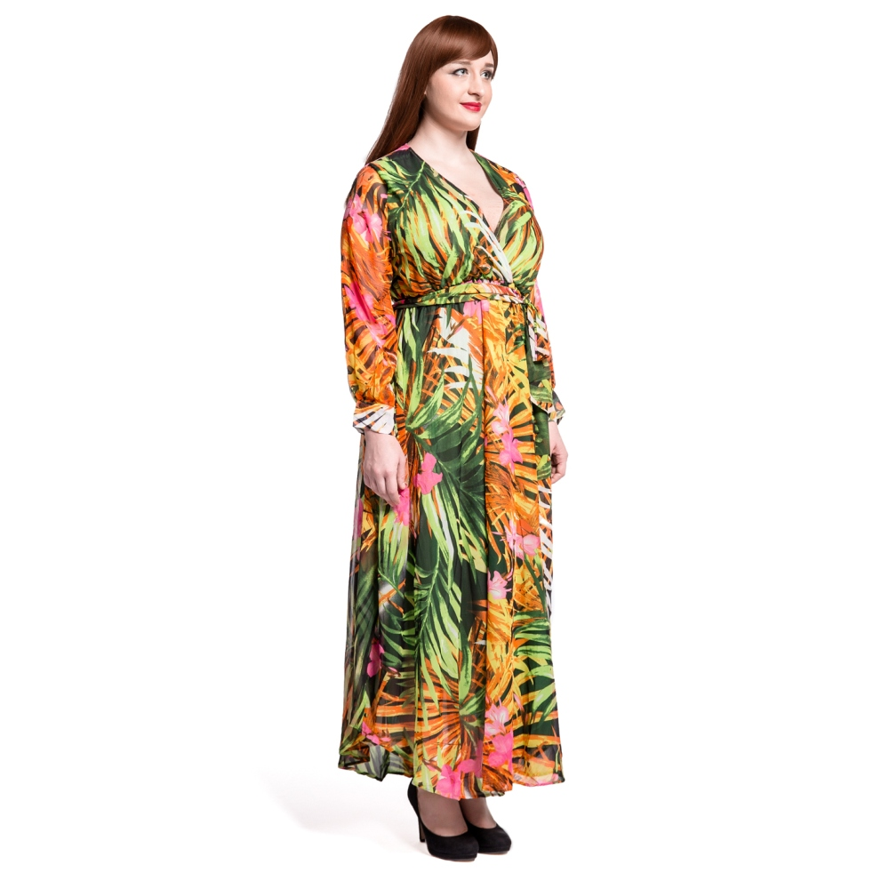 0a2d0fffde4 5XL 6XL 7XL Plus Size Autumn 2016 Women Casual Sexy V Neck Print Long  Sleeve Maxi Dress 2016 Ladies Chiffon Dresses Clothes-in Dresses from  Women s Clothing ...