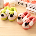 2016 autumn and winter little baby   new cartoon puppy cotton slippers cute boy and girl  children cotton slippers 1to4years kid