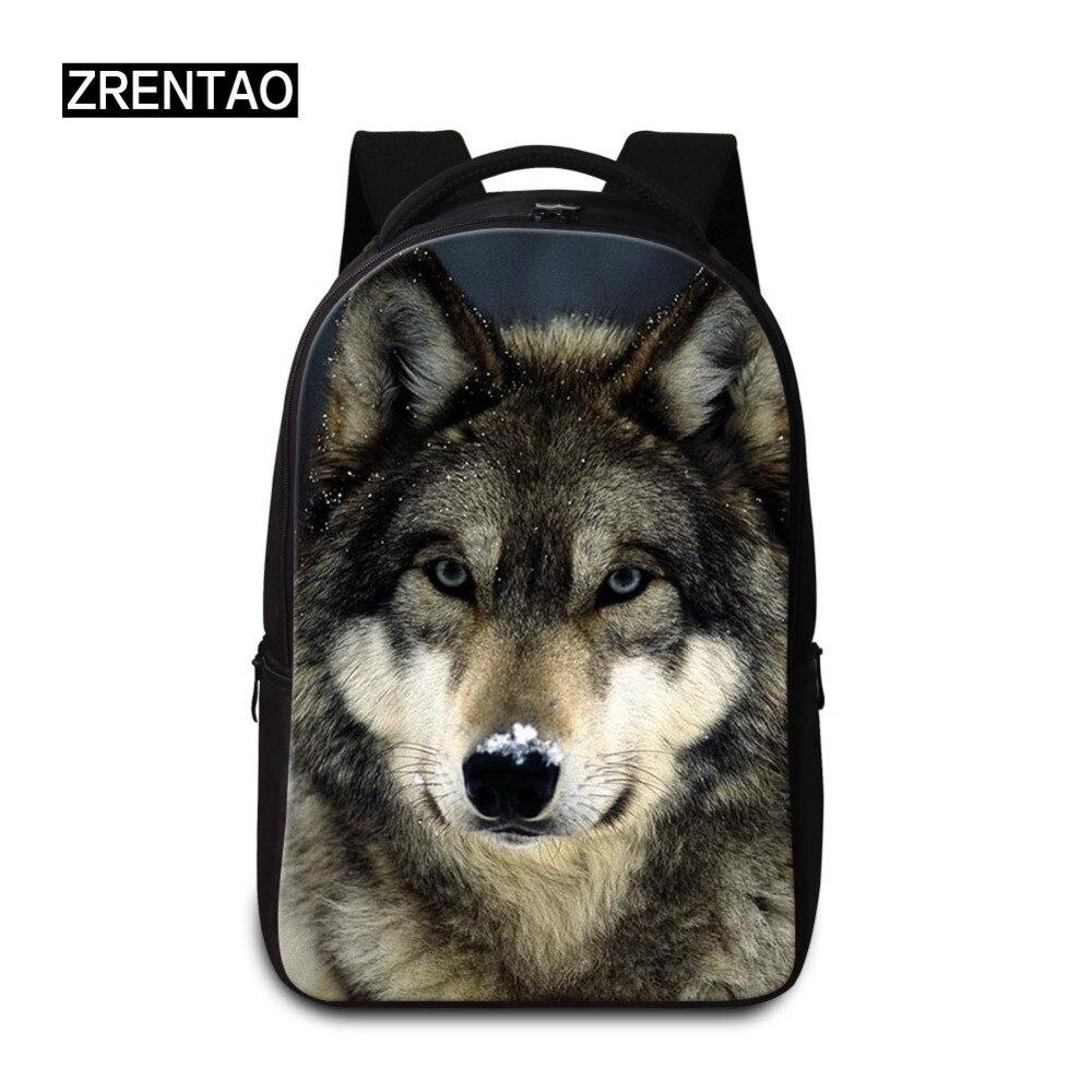 ZRENTAO Wolf étanche 12/13/14 pouces sac à dos pour ordinateur portable hommes sacs à dos pour adolescentes voyage sac à dos sac femmes hommes sacs d'école