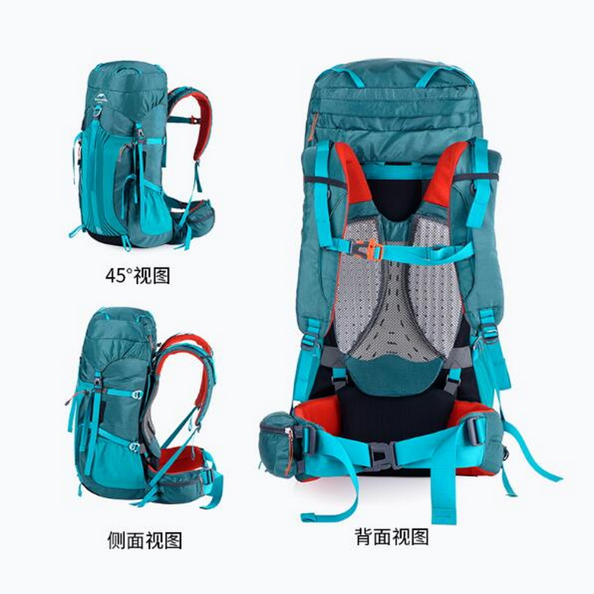 Naturehike outdoor backpack mountaineering bag men and women shoulder bag large capacity 55Lsports bagleisure travel bag on foot outdoor sport mountaineering rucksack 65l men and women waterproof backpack leisure bag large capacity travel backpack