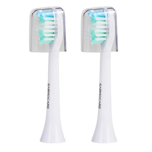 Sarmocare 2 Stks/partij Tandenborstels Hoofd Voor S100 En S200 Ultrasone Sonic Elektrische Tandenborstel Fit Elektrische Tandenborstels Hoofd