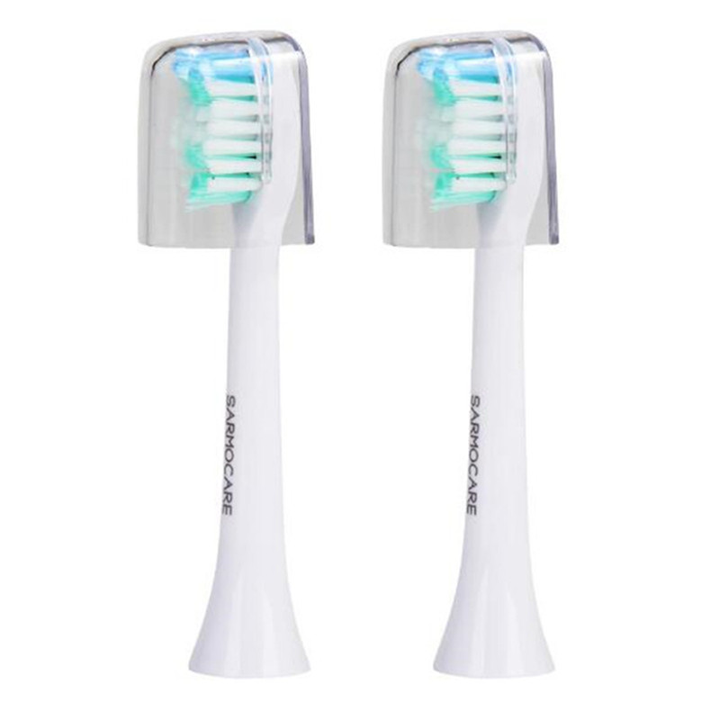Sarmocare 2 pcs/lot Toothbrushes Head for  S100 and S200 Ultrasonic Sonic Electric Toothbrush Fit Electric Toothbrushes Head