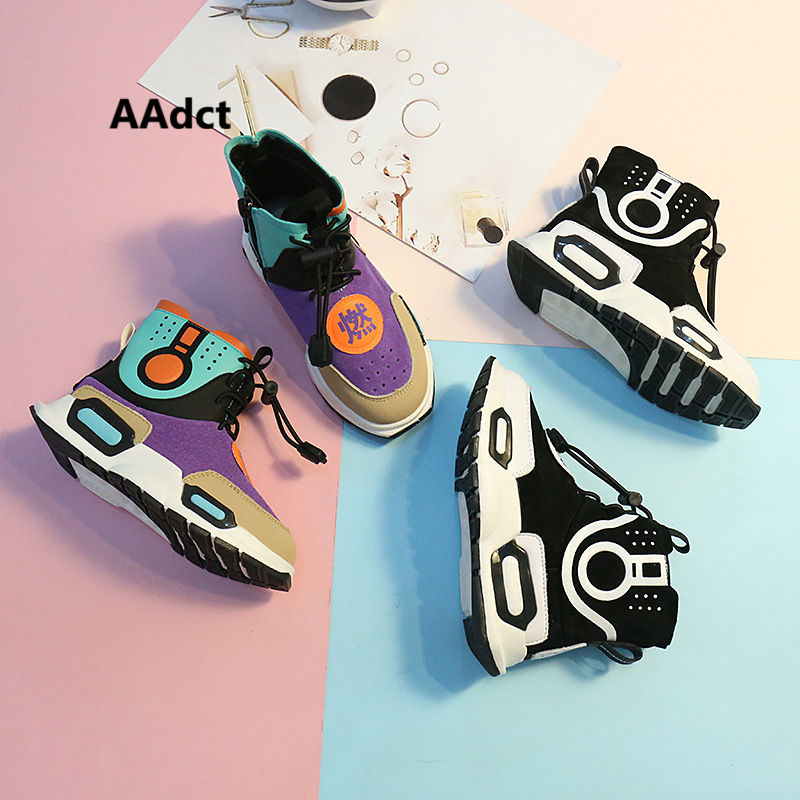 AAdct High-cut girls boys shoes running sports kids shoes sneakers casual fashion student children shoes 2017uovo fall children shoes boys and girls sneakers 3 hooks and kids shoes high quality sports running shoes for kids