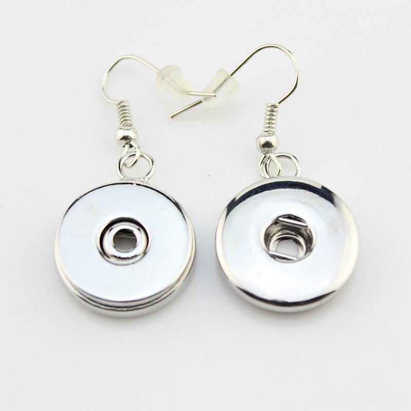 4573bb9fac8bc Moda al por mayor gancho pendientes 18mm jengibre Snap botón joyas  pendientes para la Mujer