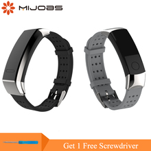 Mijobs Wrist Strap For Huawei Honor 3 Replace Accessories Band Stainless Steel Buckle Smart Watch Bracelet For Huawei Band 2 Pro