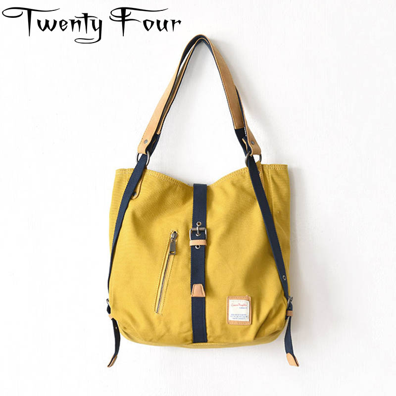 Twenty-four Fashion Bag Women Shoulder Color Solid Bag Canvas Tote Yellow Messenger Lady Handbag Fashion Bronze Zipper Crossbody free shipping new fashion brand women s single shoulder bag lady messenger bag litchi pattern solid color 100