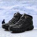 2016 botas de cuero, botas de fondo grueso masculino, botas del ejército, tactical bot para hombres