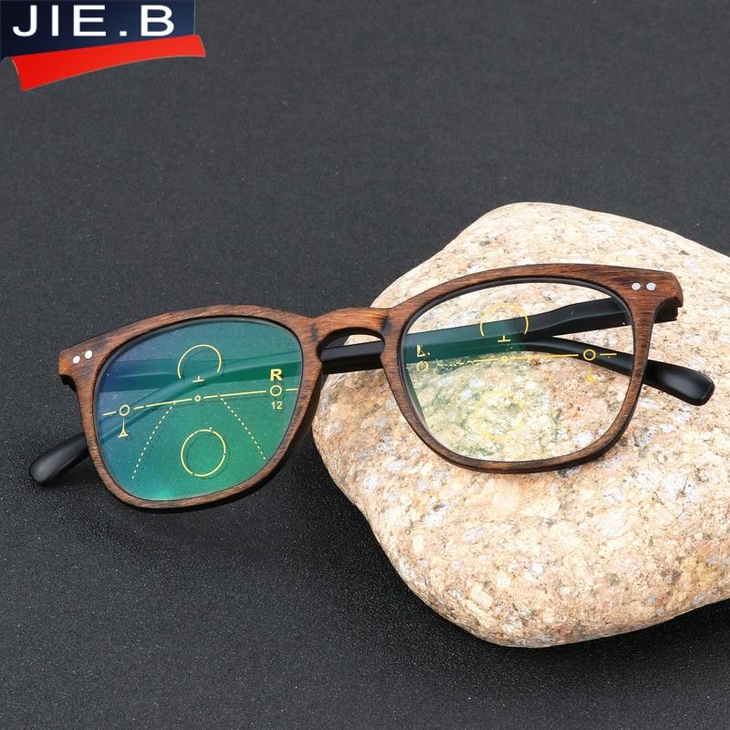B Marque Vintage Multi Progressif focal Lunettes de Lecture Hommes Femmes  Presbytes Lunettes Homme Femme Lunettes dans Lunettes de Lecture de  Vêtements ... 82b8dc75d52a