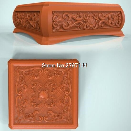 Online Shop Box 3D model relief figure STL format Religion Jewelry