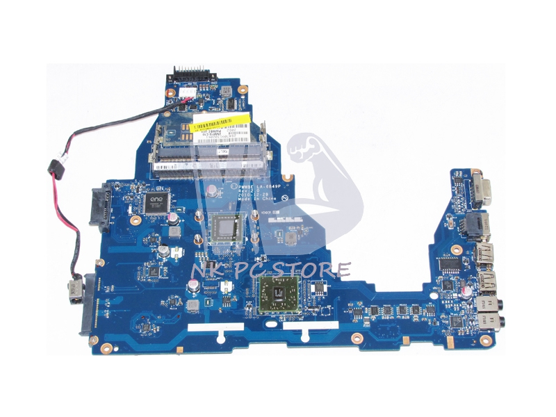 NOKOTION K000128540 MAIN BOARD For Toshiba Satellite C660D Laptop Motherboard PWWBE LA-6849P CPU Onboard DDR3 nokotion genuine h000064160 main board for toshiba satellite nb15 nb15t laptop motherboard n2810 cpu ddr3
